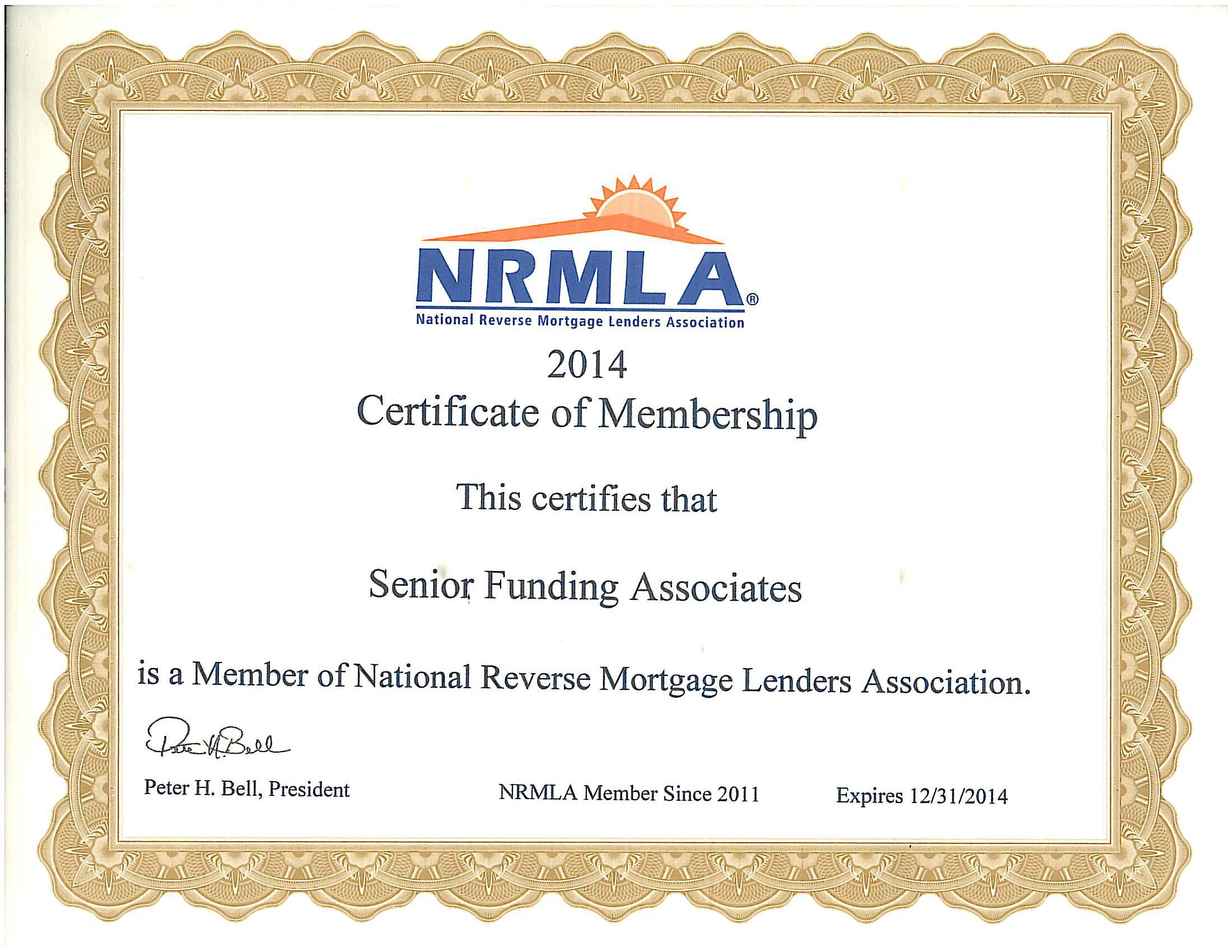 Nrmla membership certificate dean jones reverse mortgages certiface1 certiface2 1betcityfo Images